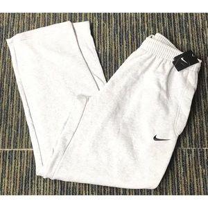 Nike Men's Sweatpants Heather Gray Black Swoosh